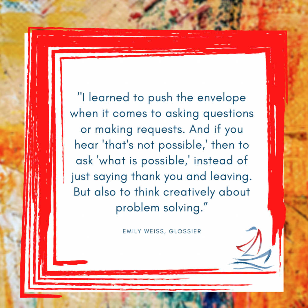 Emily Weiss, Ride the Sail Marketing, women in business