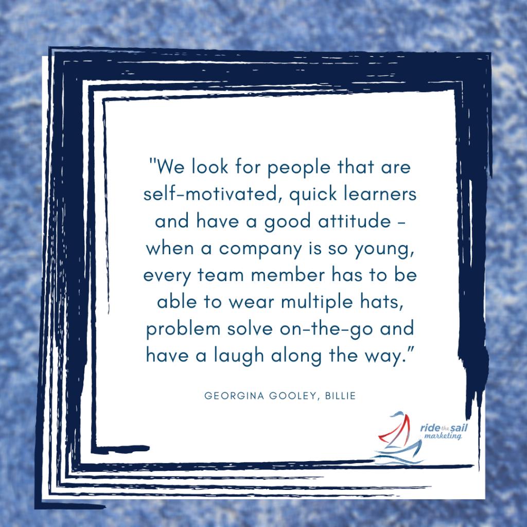 Ride the Sail Marketing, Georgina Gooley, women in leadership