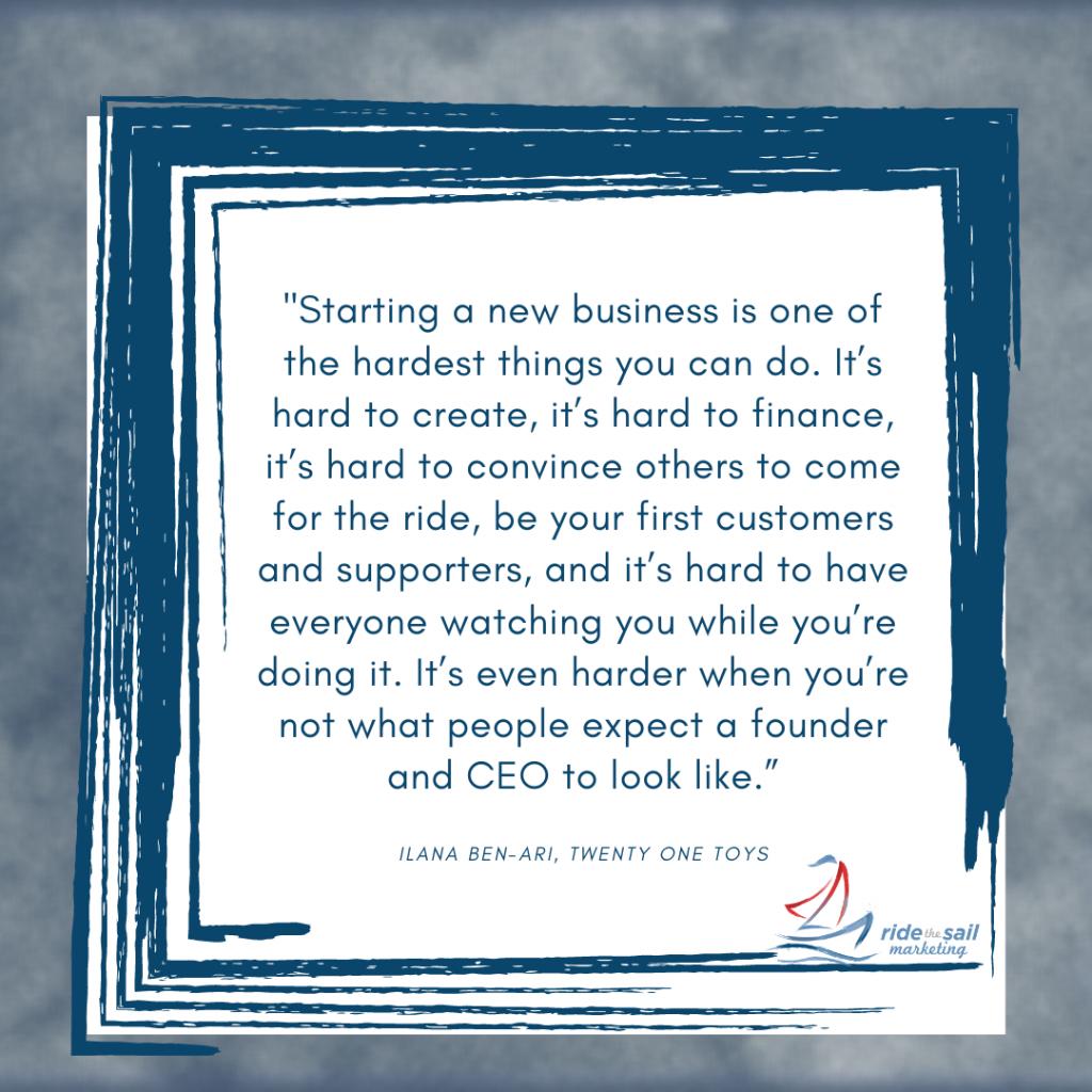 Ride the Sail Marketing, women in leadership, Llana Ben-Ari, quotes