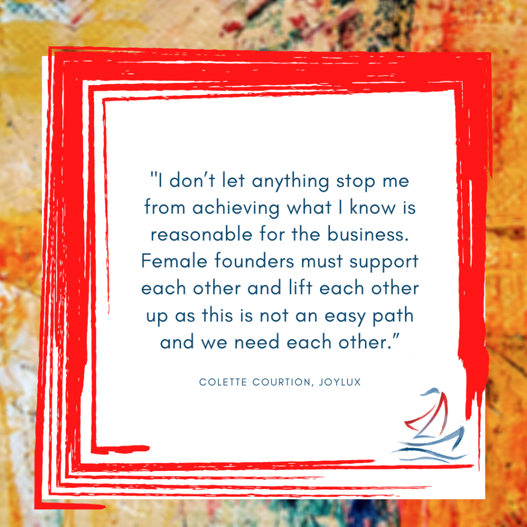 women in business, Colette Courtion, female founders, Ride the Sail Marketing