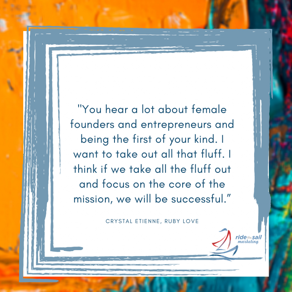 Crystal Etienne, Ride the Sail Marketing, women in business